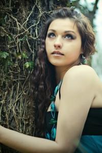 """""""Bird of Paradise""""; modelka: Emilia Zapart; make-up i stylizacja: moje; asystowała: Natalia Skrzynecka"""