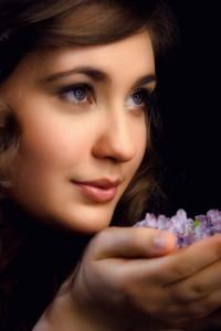 """Wiosna""; modelka: Olga Bednarczyk; make-up : mój"