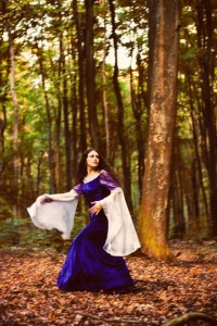 """Evenstar""; modelka: Emilia Klimczak; make-up i kostium: moje"