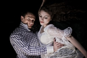 """""""Twilight"""": modele: Emilia Klimczak i Jarek; make-up i stylizacja: moje; asystowała: Natalia Skrzynecka"""